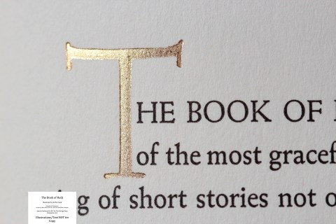 The Book of Ruth, Limited Editions Club, Macro of Sample Text #1