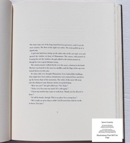 Snow Country, Limited Editions Club, Sample Text #2