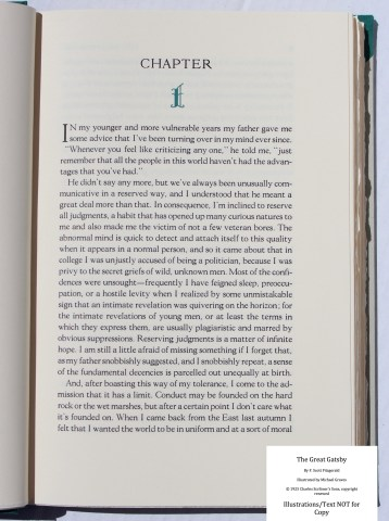 The Great Gatsby, Arion Press, Sample Text #1 (Introduction)