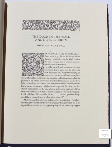 The Door in the Wall, The Folio Society, Sample Text #1