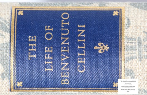 The Life of Benvenuto Cellini, Limited Editions Club, Macro of Spine