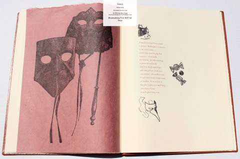 Venice, Whittington Press, Sample Illustrations #11 with Text