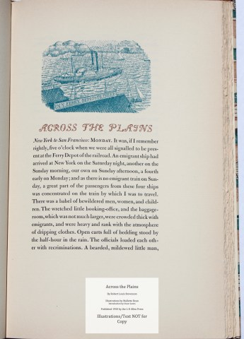 Across the Plains, Allen Press, Sample Illustration #2 with Text