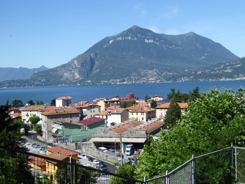 """View of Lake Como from """"Orrido"""" Gorge"""
