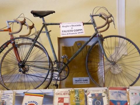 The legendary Fausto Coppi's winning bicycle - Giro di Francia 1949