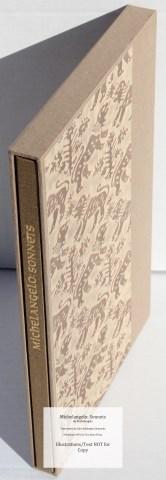 Michelangelo: Sonnets, Allen Press, Book in Slipcase (Custom)