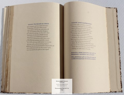 Michelangelo: Sonnets, Allen Press, Sample Text #7