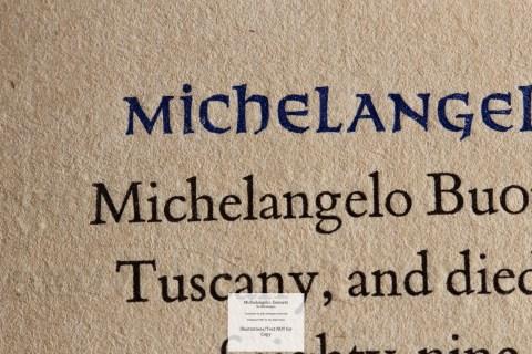 Michelangelo: Sonnets, Allen Press, Macro of Sample Text #1