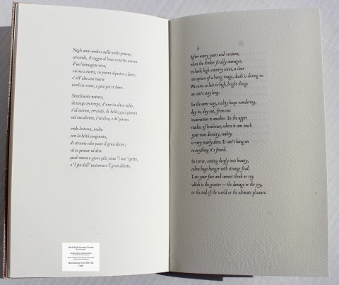 Hard High-Country Poems Peter Koch Printers, Sample Text #3