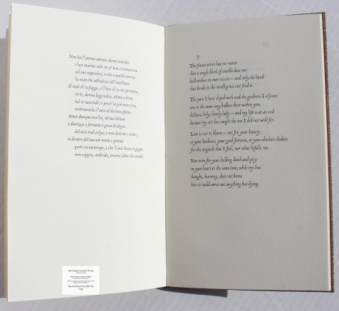 Hard High-Country Poems Peter Koch Printers, Sample Text #4