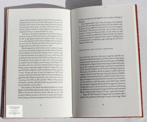 The Typographic Legacy of Ludovico degli Arrighi, Peter Koch Printers, Sample Text #3