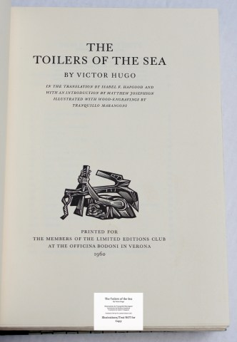 The Toilers of the Sea, Limited Editions Club, Title Page