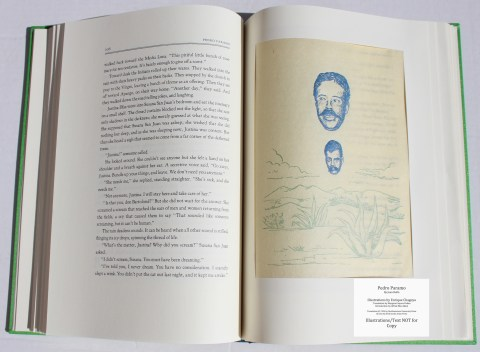 Pedro Paramo, Arion Press, Sample Illustration #5 (front) with Text