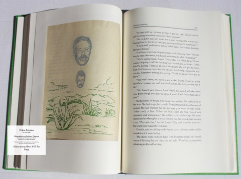 Pedro Paramo, Arion Press, Sample Illustration #5 (back) with Text