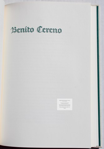 Billy Budd and Beneto Cereno, Limited Editions Club, Title Page for Beneto Cereno