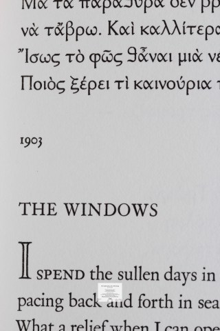 The Splendour of a Morning, Barbarian Press, Macro of Text