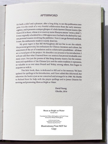 Moon as Bright as Water, Chester River Press, Sample Text #8 (Afterword)