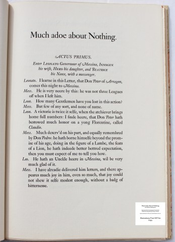 Much Ado About Nothing, Limited Editions Club, Sample Text #1