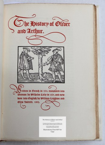 The History of Oliver and Arthur, Riverside Press, Title Page