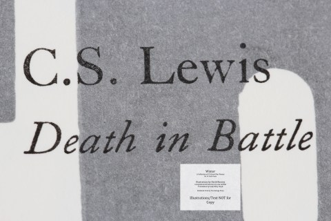 Winter, Salvage Press, Macro of Sample Text #8 (Poem - C.S. Lewis, Death in Battle)