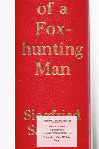 Memoirs of a Fox-hunting Man, Limited Editions Club, Spine Macro