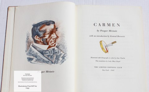 Carmen, Limited Editions Club, Frontispiece and Title Page