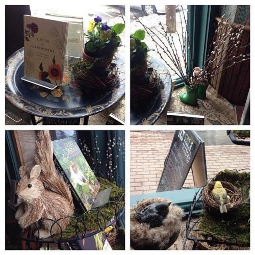 fairy garden display - RJ Julia Books, Madison, CT