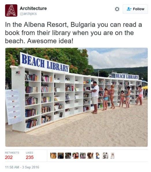 beach library