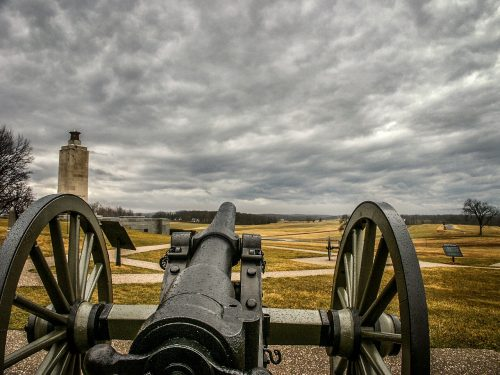 cannons at the Battle of Gettysburg