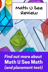 Math U See Reviews: Find out more about Math U See and find the Math U See placement test