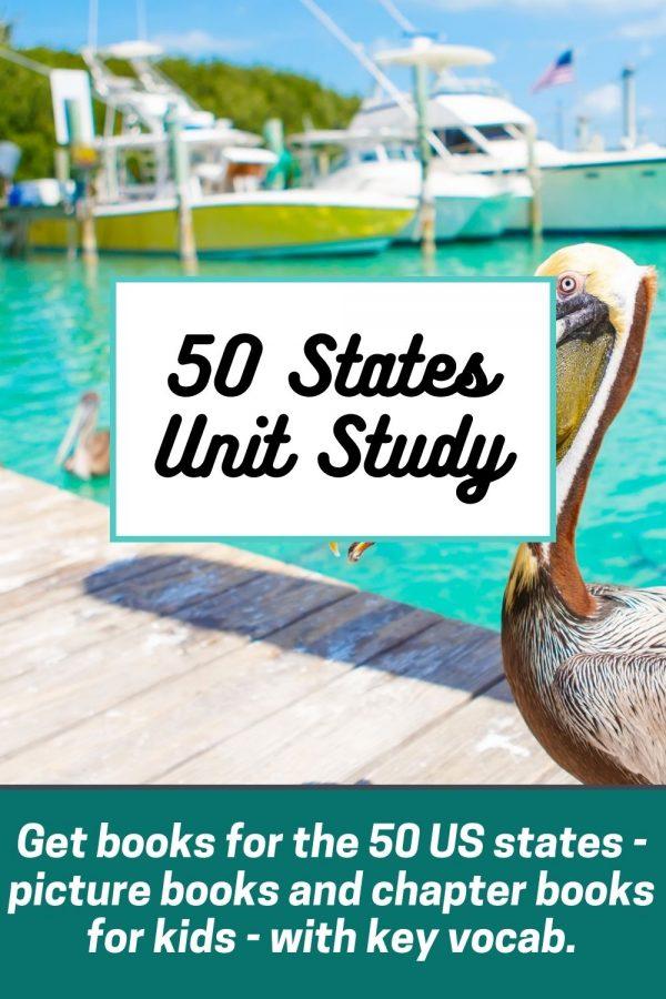 50 States Unit Study: books about USA 50 States