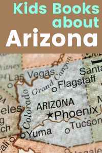 Arizona map - Flagstaff, Phoeniz, Tucson, Yuma, Grand Canyon, Scottsdale - Children's Books about Arizona