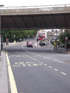 Great Western Road under the Westway - the start of the official Carnival route tomorrow