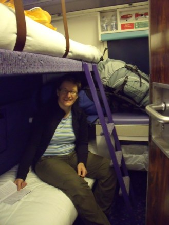 Our cabin on the sleeper train