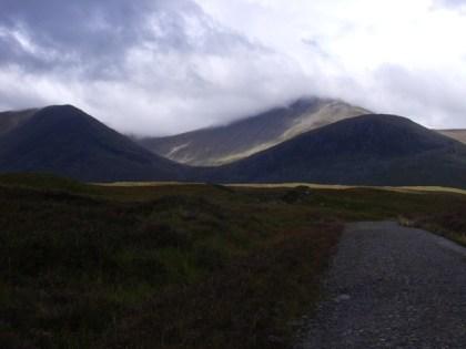 The path across Rannoch Moor