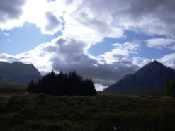 The entrance to the valley of Glen Coe