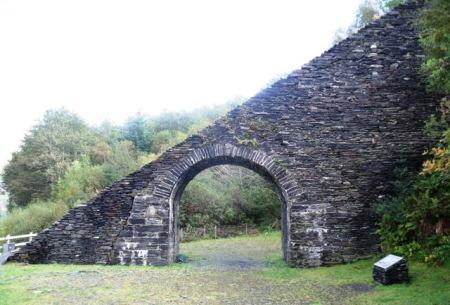 Slate arch outside the quarry in Ballachulish