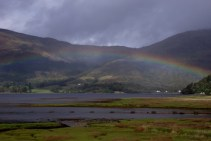Rainbow over Loch Leven