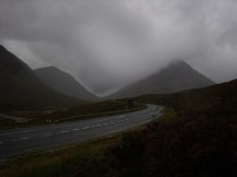 A very wet and windy Glen Coe