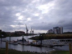 View over the remains of Glasgow harbour