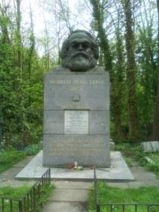 Karl Marx' grave at Highgate Cemetery