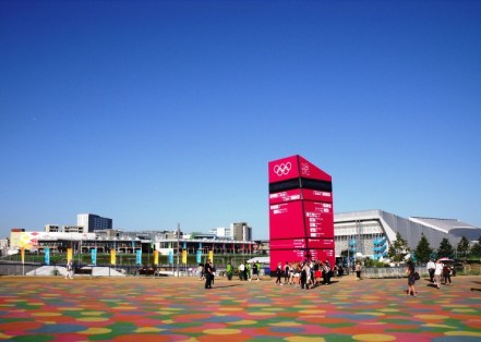 Signposting in the Olympic Park