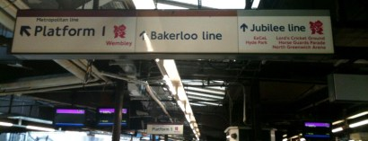 Olympic tube signs