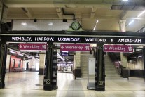 Olympic signage at Baker Street station
