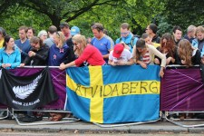 Supporters from New Zealand and Sweden