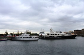 Two more yachts at South Quay
