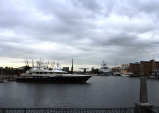 Yachts at South Quay