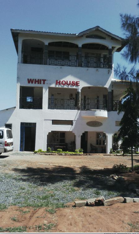 """White House"" and Sculpture of Barack Obama, Mama Sara Obama and Raila Odinga—Kogelo Village Resort, Copyright of theauthor"