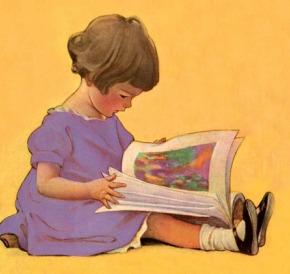 Child Read Yellow WilcoxSmith 290