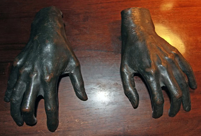 Bronze cast believed to be made from the hands of Franz Liszt.